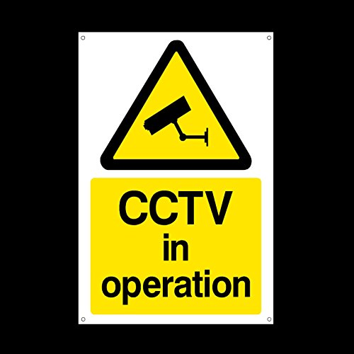 CCTV in Operation 3mm METAL SIGN 3 dimensioni MISC11