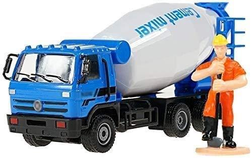 WANGCH Camión de construcción Camión de escoria Camión mezclador de cemento Modelo de aleación Tire hacia atrás Coche de juguete para niños Metal Tire hacia atrás Camión de construcción Juguete Niño r