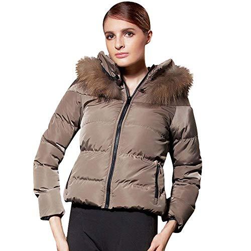 ELEAMO Womens gewatteerde korte dames gewatteerde jassen mode Trending Zara jas Down jas met capuchon winter dikker winddichte zak Puffer jas dames gewatteerde jassen