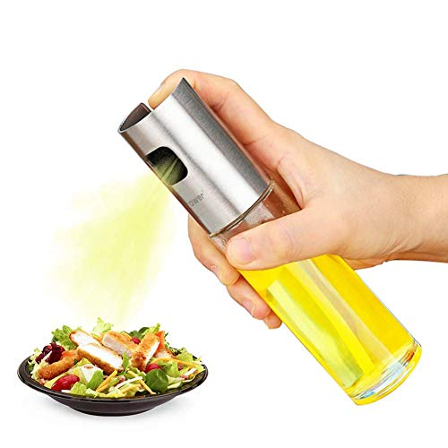 DONDA Leak Proof Oil Sprayer Bottles for Cooking |Oil Sprayer for Kitchen |Olive Oil Spray Bottle for Cooking |Oil Dispenser Bottle |Vinegar Dispenser (100 ml,Glass)