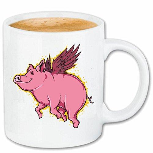 Reifen-Markt Koffie Mok Theekop VLIEGEN HUIS PIG PIG PIG wildsau GLÜCKSSCHWEIN PIG BBQ GLÜCKSSCHWEIN Huishoudelijke PIG BOAR PIGLETS Keramische 330 ml in wit