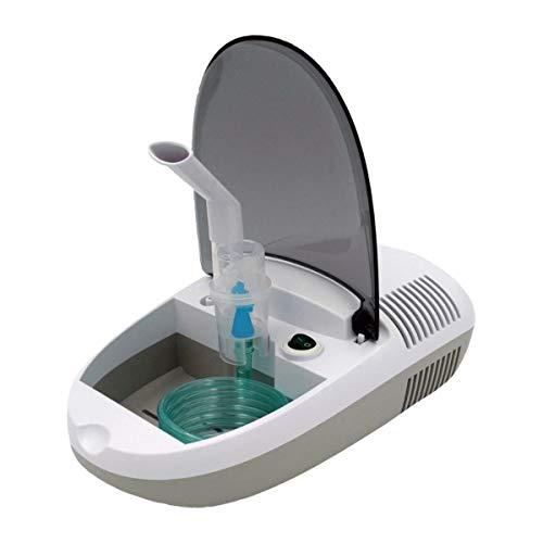Quigg Inhalator mit Kompressor-Drucklufttechnologie/Behandlung von Atemwegserkrankungen wie Erkältungen, Bronchitis/Inhaliergerät für Erwachsene und Kinder/Vernebler-Inhalation IP21