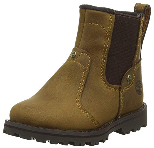 Timberland Unisex-Kinder Asphalt Trail Chelsea Boots, Braun (Medium Brown Full Grain P01), 21 EU