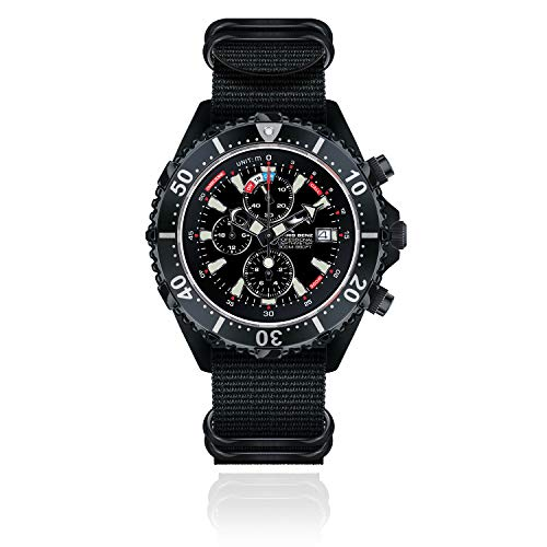 CHRIS BENZ Depthmeter Chronograph 300M Black Edition Taucheruhr, Tintenfischschwarz