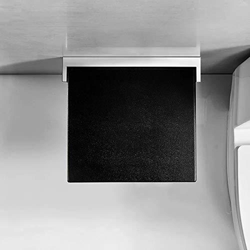 LXHkk Klappbarer Duschhocker Wandduschstuhl Tragfähigkeit Bis 200 Kg Design Verlangsamen 90 ° Faltbar Geeignet Für Ältere/Schwangere/Behinderte Menschen,Schwarz