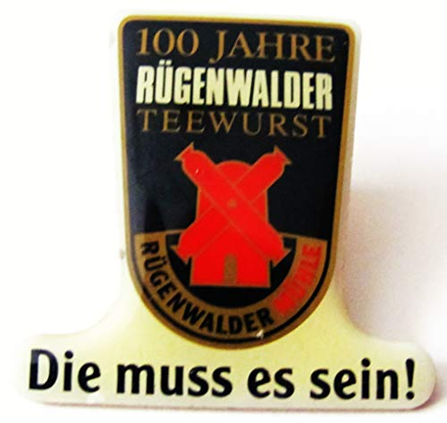 Bester der welt Rügenwalder – 100 Jahre Teewurst – Pin 30 x 29 mm