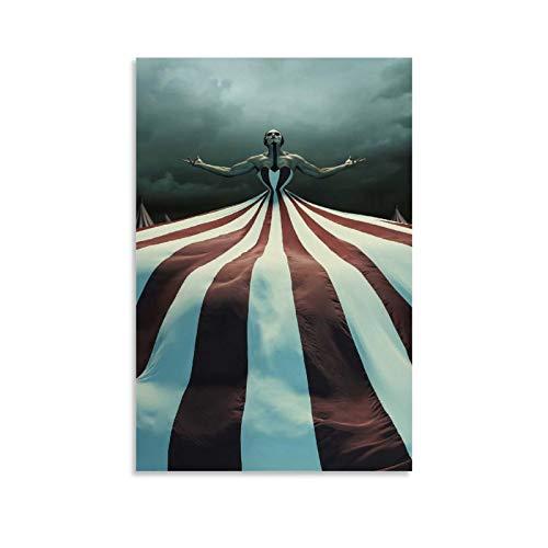 WEILEI American Horror Story - Póster decorativo de circo (60 x 90 cm)