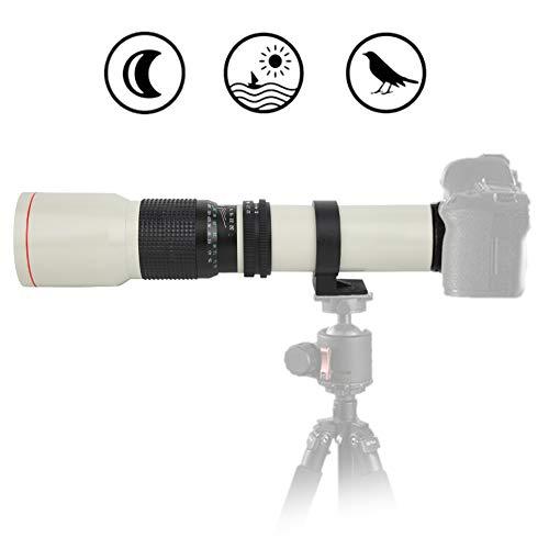 Teleobiettivo, 500 mm F8 ‑ F32 Messa a Fuoco Manuale Plastica + Lega + Vetro Ottico Teleobiettivo per Fotocamera Olympus M4/3, per riprese di Oggetti a Lunga Distanza