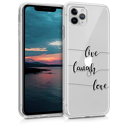 kwmobile Hülle kompatibel mit Apple iPhone 11 Pro - Handyhülle - Handy Case Live Laugh Love Schwarz Transparent