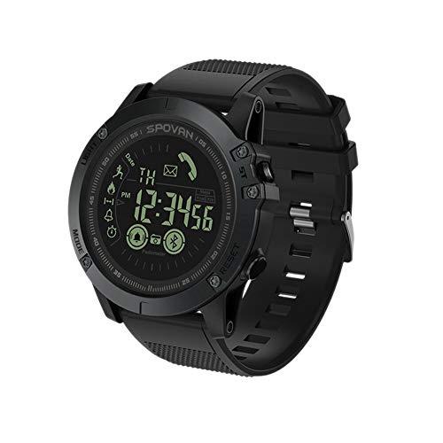 Spovan PR1 - Reloj Deportivo para Hombre, con Bluetooth, podómetro, Reloj Digital, 50 m, Resistente al Agua, Relogio Feminino PR1