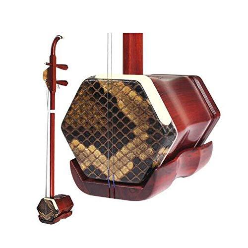 Erhu, Blood Sandalwood Erhu Erhu Musikinstrument, Blut Sandalwood Erhu Erhu, Adult Erhu Aufführung, Nationale Musikinstrument (Größe: 81.5 * 13 * 9cm) HUERDAIIT (Size : 81.5 * 13 * 9cm)