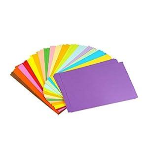 erlliyeu Origami Papier faltpapier doppio lato 100 Foglie 10 Vari Colori per DIY artigianato fogli di formato A4 20*30cm