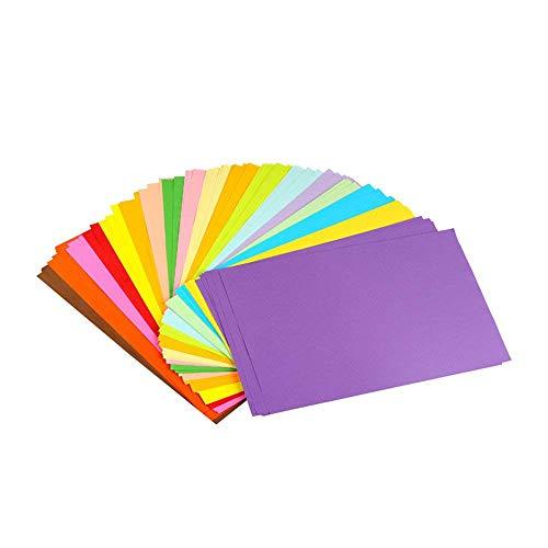 Erlliyeu Buntpapier Farbigen A4 Kopierpapier Papier mehr Spaß am Basteln Gestalten Dekorieren Zuschnitt-Papier 100 Blätter 10 Verschiedene Farben für DIY Kunst Handwerk (20 * 30cm)