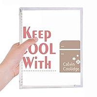 選挙スローガンキープ冷蔵庫クール 硬質プラスチックルーズリーフノートノート