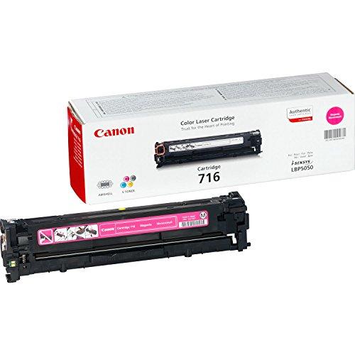 Canon cartucho 716 de tóner original magenta para impresoras láser i-SENSYS LBP5050, LBP5050n,i-SENSYS MF8030Cn, MF8050Cn, MF8040Cn, MF8080Cw