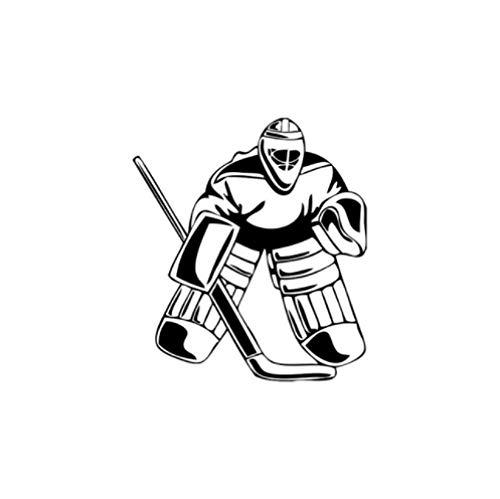 GenericBrands 3 Piezas Etiqueta engomada del Coche 12,2 * 14 CM Hockey Portero Coche Pegatinas Vinilo Coche Negro