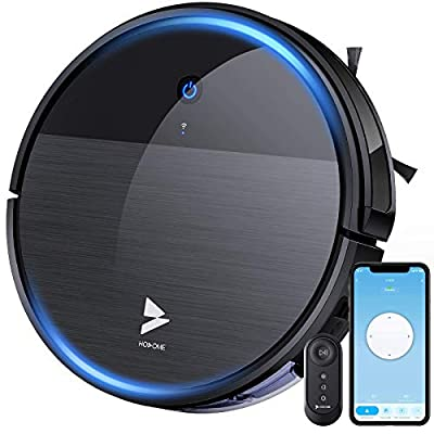 Hosome V701S Robot Vacuum Cleaner 2-in-1 Mop Sweep Vacuum Robotic , 2200 Pa, Wi-Fi ,Super-Thin, Self-Charging, Quiet, with Boundary Strip, Work with Alexa, for Pet Hair/Hard Floor/Low Pile Carpet