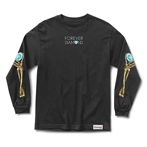 Diamond Supply Co. Men's Heart of Diamond Long Sleeve T Shirt Black 3XL