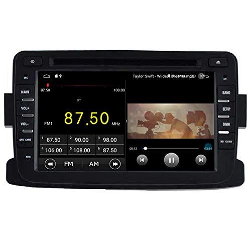 BWHTY Android 10 Car DVD Player GPS Stereo Head Unit Navi Radio Multimedia WiFi para Renault Duster Dacia Logan Sandero Xray 2012 2013 2014 2015 2016 2017 Control del Volante
