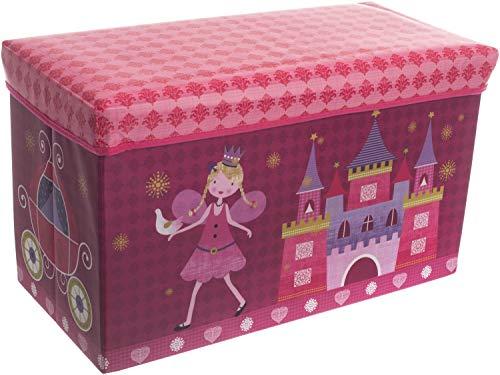 Bieco 04000499–Caja de almacenamiento y banco Princesa, aprox. 60x 30x 35cm