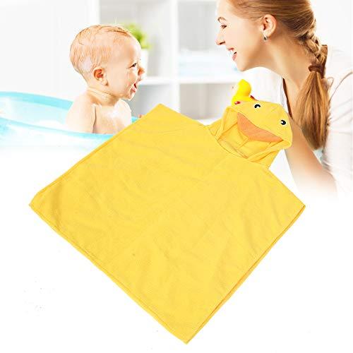 Toalla de baño para bebés, Toalla con capucha para la cara del bebé, Cómoda 20.8 x 22.8in Agradable para la piel para niños de 3 a 6 años Uso en el hogar(Little yellow duck)