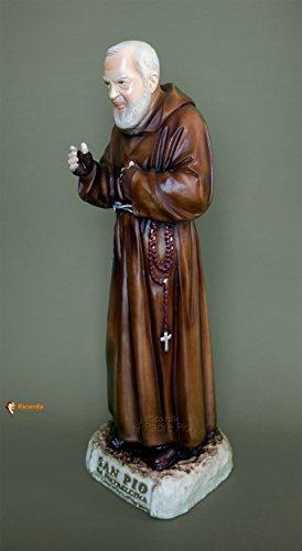 Statua Padre Pio 'benedicente' cm50 in resina