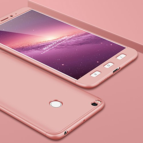 SOCINY Funda Xiaomi Mi MAX 2,Cobertura de Cuerpo Completo Protección Combinación de PC Anti-Scratch Ultrafina Funda antichoque con Todo Incluido Funda-Rosa Oro