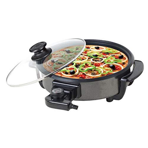 WE HOUSEWARE BN3462 Multicazuela Paellera Pizza Pan de 1500w con Tapa Cristal y 42cm de diametro