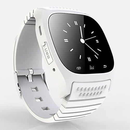 paracity 2015Neueste Version m26s Bluetooth Smart Armbanduhr Handy Mate mit Zifferblatt/Wecker/Musik Player/Schrittzähler für Android iOS iPhone 4/4S/5/5S/6Samsung S5/S4/S3/Note 3HTC Huawei Xiaomi