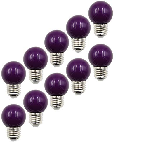 10X E27 transparante lampen 2W witte LED 200LM gekleurde gloeilampen equivalent aan 20 W halogeen geschikt voor decoratie AC220V-240V