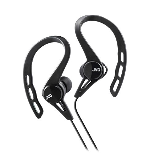 JVC HAECX20B Sports Clip Inner Ear Headphones, Black