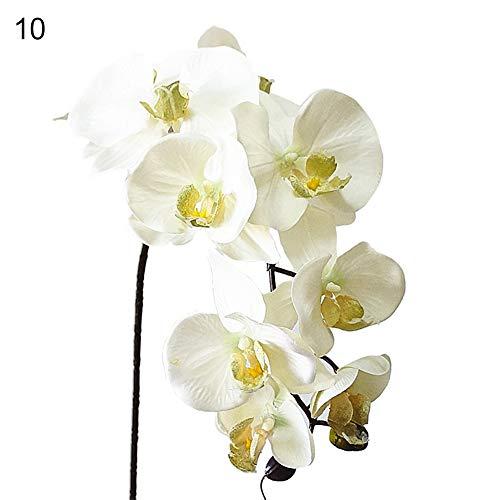 NAttnJf 1 Unid Flor Artificial Mariposa Orquídea Jardín Realista Fiesta de Boda Home Office Hotel Decoración 10#