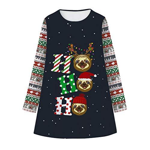 MäDchen Rock Baby Weihnachten Dress Up Kleid Langarm-Minirock LäSsiges Dirndlkleid Kinder Weihnachtskleid Ballettkleidung Ballettkleid KostüM Prinzessin Kleid Herbst Winter T-Shirt Kleid