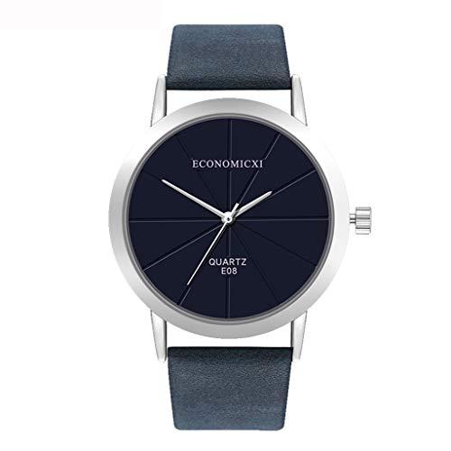 Neuer Trend Damen Klassisch Armbanduhr Uhr, Frauen Retro Minimalistisch Analog Quarz Uhren Ultradünn Damenuhr Lederarmband Damenarmbanduhr Geschenk LEEDY