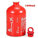 Lixada Fuel Bottle Petrol Alcohol Liquid Gas Oil Bottle Outdoor Camping No-Leak Safety Gas Can Oil...