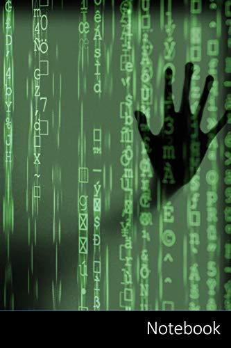 Notebook: Hacker, Computer, Geist, Cyber Notizbuch / Tagebuch / Schreibheft / Notizen - 6 x 9 Zoll (15,24 x 22,86 cm), 150 Seiten, glänzende Oberfläche.