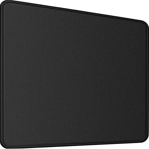 Mouse Pad,Upgraded Mouse Pad with Durable Stitched Edge,11.8'x9.8'x0.12' 30% Larger Big Gaming Black Mouse pad,Non-Slip Rubber Base Waterproof Mouse Pad for Gaming,Laptop,Computer, Office,Home, Black