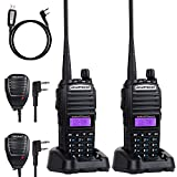 BaoFeng UV-82 BaoFeng Radio Ham Radio 144-148/420-450Mhz 2 Way Radio BaoFeng Walkie Talkies(2 Pack-Black)