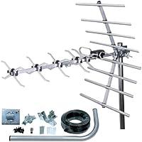 SLx 27887K4 Kit Digital TDT Antena 32 Elementos de Plata