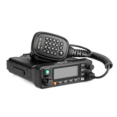 Retevis RT90 Dual Banda Mobile Car Radio Aficionado DMR Coche Transceptor con Pantalla LCD Emisora de Potencia Radio Coche de Análogo y Digital