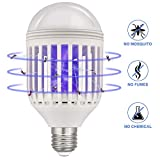 Lukasa 2 in 1 LED Mückenlampe, E27 Glühbirne mit Licht UV Elektrische Insektenvernichter