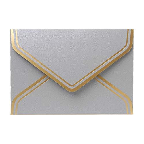 Sqiuxia 10 buste di carta per lettere di auguri, inviti per feste di nozze, multicolore