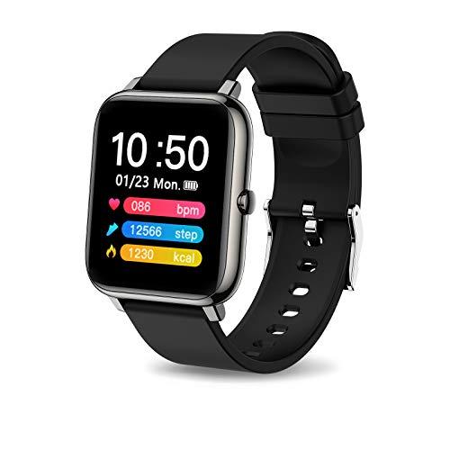 """iporachx Smartwatch, Relojes Inteligente Pantalla TFT de 1,4"""", IP67 Impermeable, Pulsera Actividad con Monitor de Sueño Contador, Pulsómetro, Calorías, Podómetro, Fotografía Remota, Cronómetros"""