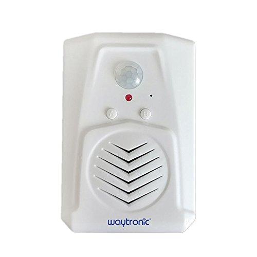 Kleiner schwarzer PIR Infrarot-Bewegungsmelder Schrei Soundbox MP3 Halloween Musik Gruselige Stimme Audio Lautsprecher mit USB Download Funktion, Microsound V22 1.00W