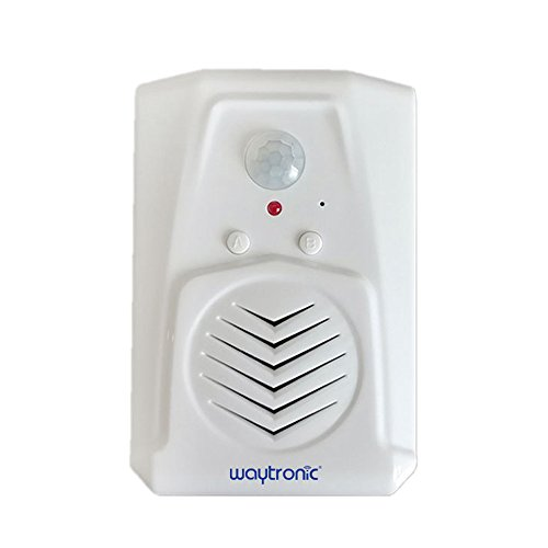 PIR Infrared Motion Sensor Activated Voice Recordable Audio Player Entrance Welcome Doorbell for Shop Store with USB Cable, Download MP3 Files Freely