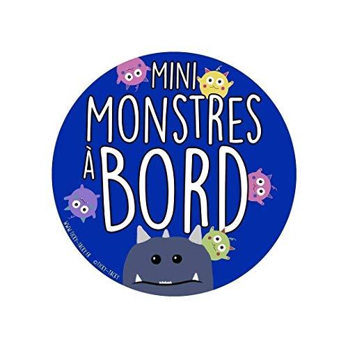 Bébé à Bord   Sticker Pour Voiture   Autocollant pour Voiture   Mini Monstres A Bord