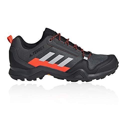 adidas Herren Terrex AX3 Walking Shoe, Solid Grey/Grey/Solar Red, 44 EU