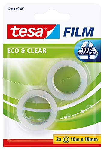 Cinta adhesiva ecológica tesa Eco & Clear (2 x 10 m x...