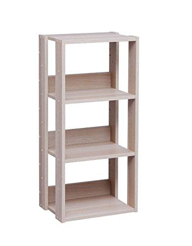 IRIS USA 3Tier Open Wood Bookshelf Light Brown OWR400N
