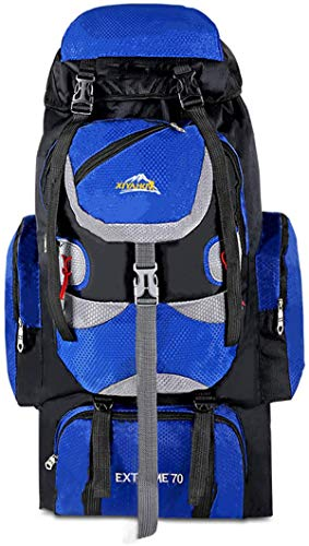 70 Liter Hiking Internal Frame Backpack With Rain Cover,Waterproof Rucksack For Men,Suitable For Hiking, Traveling And Camping;